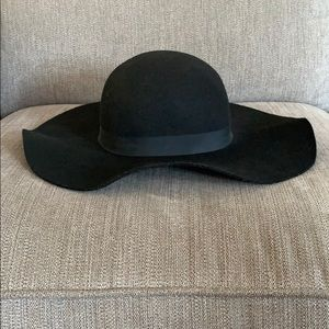 Black Wool TopShop Floppy Hat
